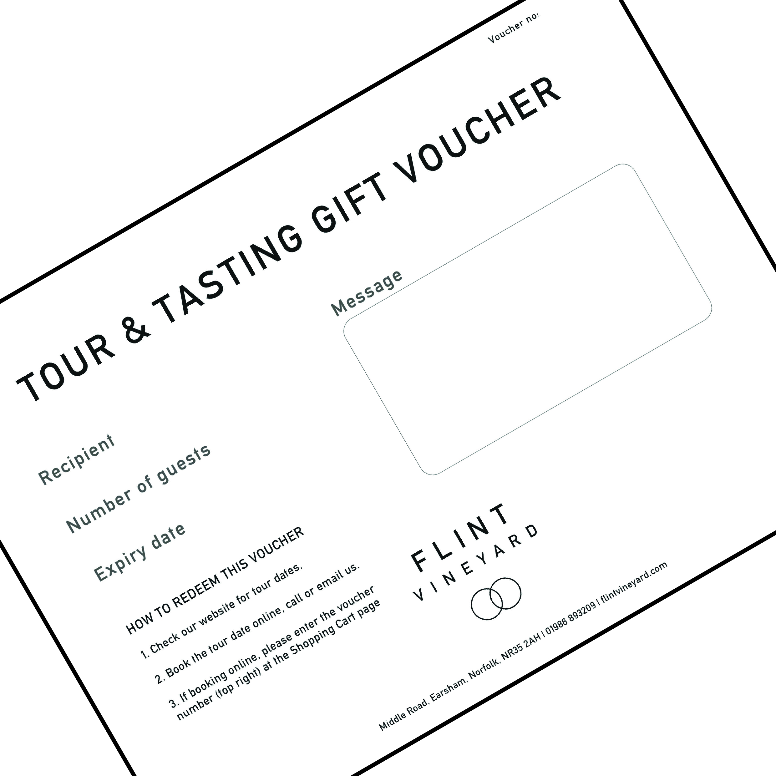 Tour tasting gift voucher with lunch flint vineyard gift voucher negle Gallery