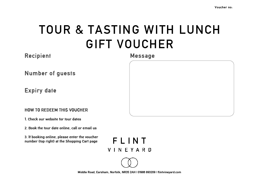 Tour & tasting gift voucher with lunch - Flint Vineyard
